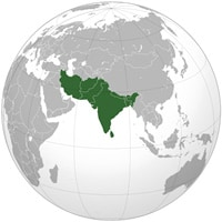 Globe of South Asia